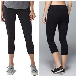 Lululemon Wunder Under Black Cropped Leggings Pant
